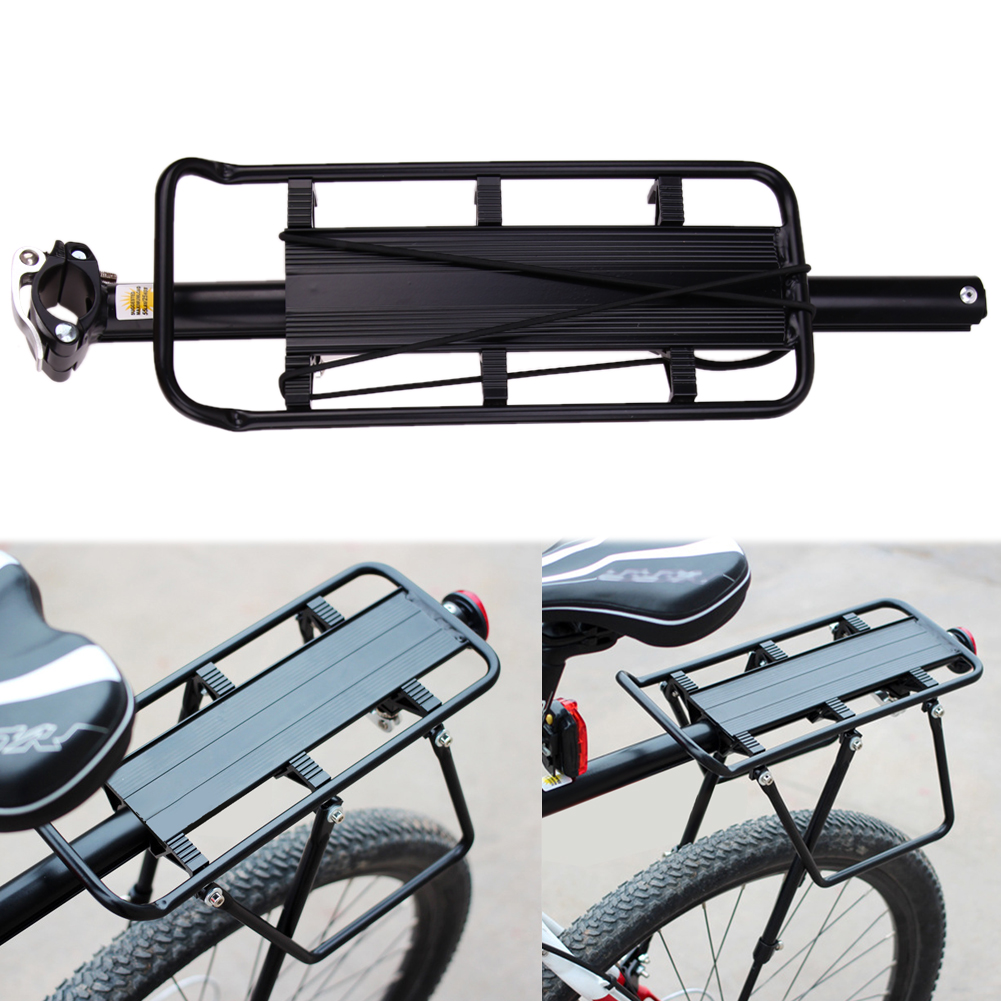 Aluminum Alloy MTB Bike Bicycle Rear Carrier Rack Panniers Bag Carrier Adjustable Rear Seat Luggage Cycling Shelf Bracket New