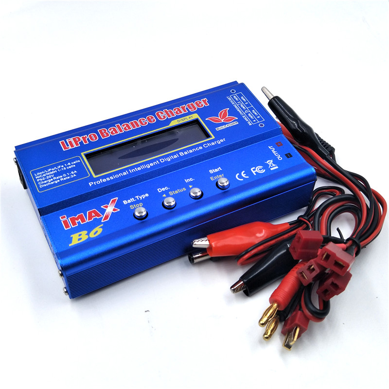 IMAX B6 AC Battery Balance Charger Lipo Nimh Nicd Battery Digital Charger Charging Turnigy Adapter with LCD Screen imax b6 digital lcd lipo nimh battery balance charger power adapter 12v 5a register free shipping