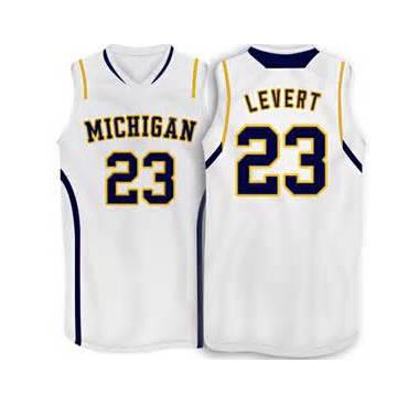 best service 29497 af95c 23 Caris Levert Michigan Wolverines Basketball Jersey yellow ...