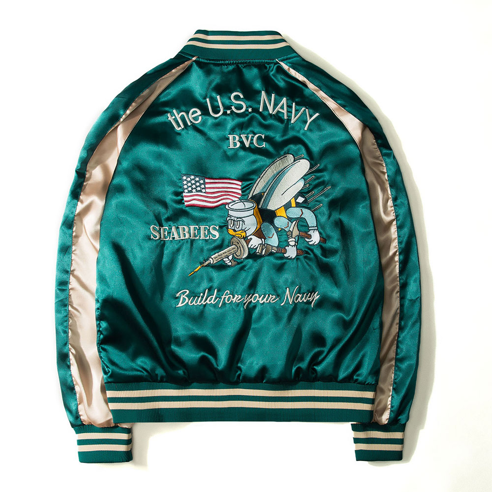 Bomber Hip Hop Baseball Men Brand Jacket Yokosuka Souvenir Two Sides Luxury Jackets Streetwear Drop Ship Discount Top Coat