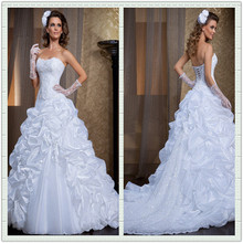 vestido de Noivas New Elegant A-Line Sweetheart Beading Tulle and Organza White/ivory Wedding Dresses Bridal Gowns Custom-made