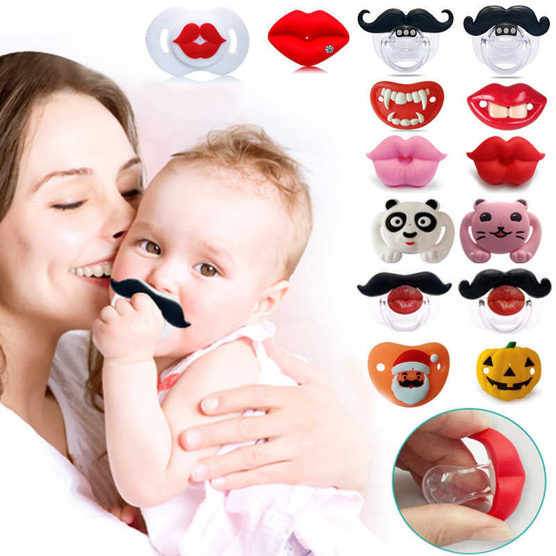 Food Grade Silicone Funny Baby Pacifiers Nipple Teethers Toddler Pacifier Orthodontic Soothers Teat Baby Pacifier Gift 54/colors