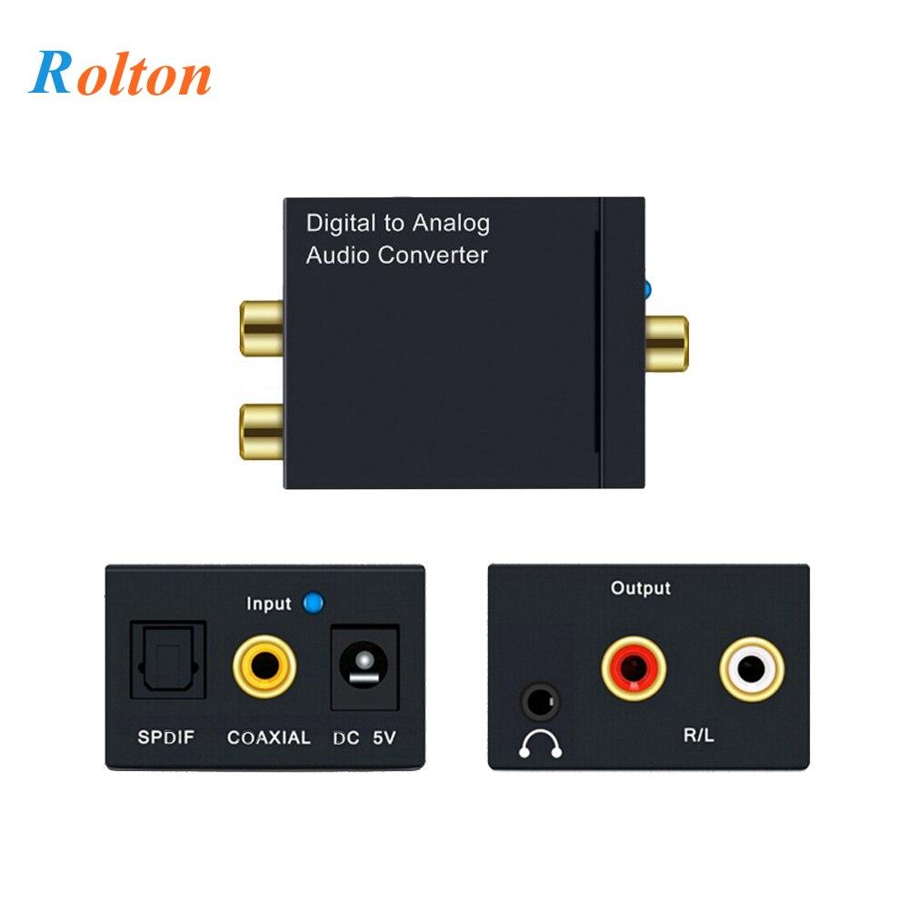 Fibre optique coaxiale Toslink numérique à analogique L/R RCA 3.5mm Jack convertisseur Audio SPDIF décodeur Audio numérique amplificateur stéréo