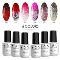 Y S Nail Gel Polish Set 8ml 6pcs Set Color Change UV Gel 205 Colors Mood