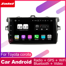 цена на ZaiXi android car gps multimedia player For Toyota Corolla 2006~2011 car dvd navigation radio video audio player Navi Map