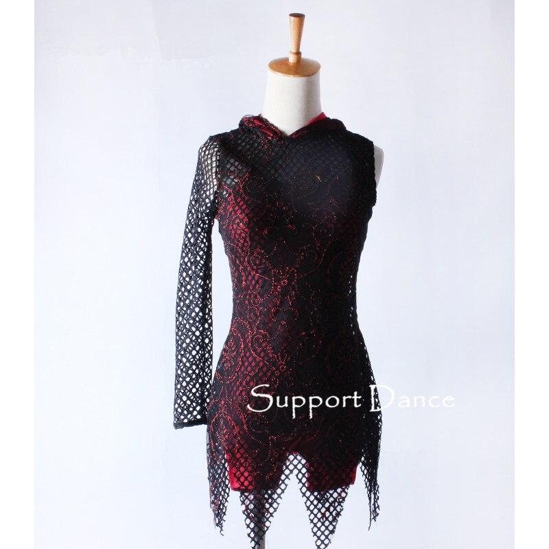 Big Mesh Jazz Modern Dance Costume With An Attached Shorty Unitard 2-piece Contemporary Dancewear C335