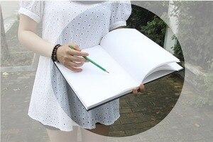 """Image 5 - """"Black Secret"""" Disegno Sketchbook di Grande Formato In Bianco Carte di Carte di Duro Della Copertura Art Notebook Studio Business Journal Dono di Cancelleria"""
