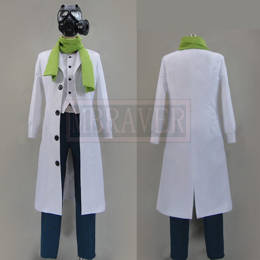 DMMD DRAMAtical Murder Clear Cosplay costumes With Mask Custom Made Any Size