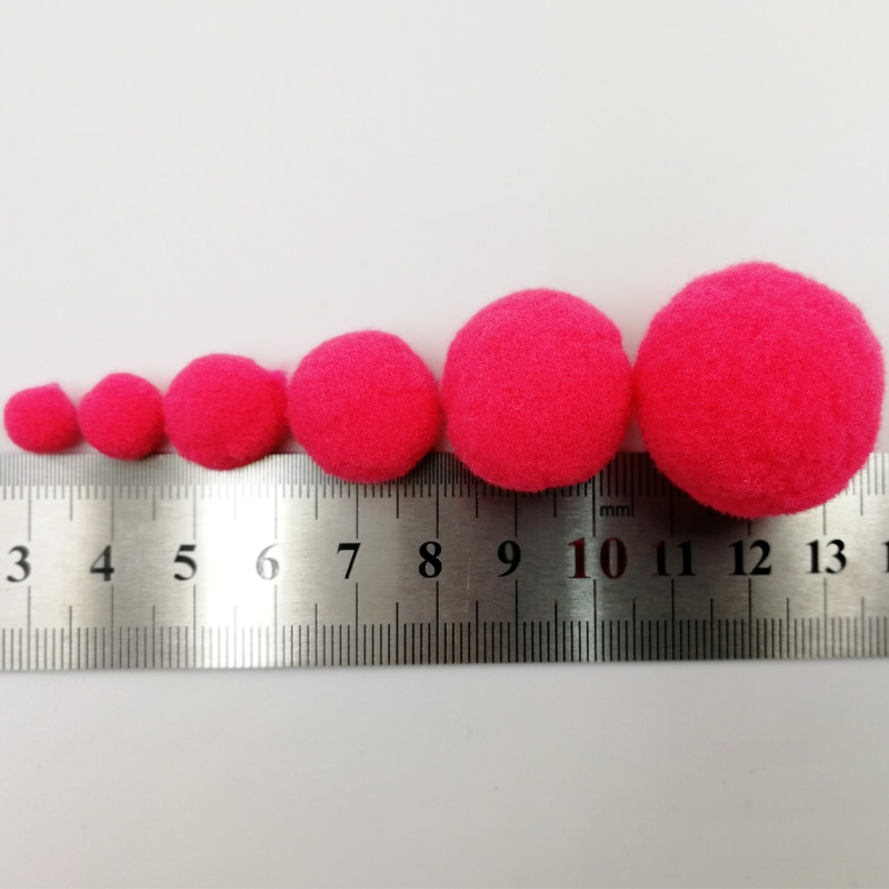 Mini Fluffy 8mm Pompoms Soft Round Pom Poms Pompon Pompoms Ball Handmade Kids Toys DIY Sewing Home Decoration Craft Supplies 20g in DIY Craft Supplies from Home Garden