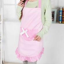 Lindo Bolsillo del Delantal de Cocina Restaurante Delantal de Lunares Estilo Coreano Mujeres Niñas Accesorios de Cocina 4 Colores