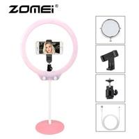 ZOMEI LED Selfie Ring Light Photography Video Studio Ringlight Flexible Tabletop Lighting Kit For Makeup Phone Live Broadcast