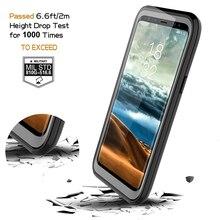 Đầy đủ Bảo Vệ cơ thể Gồ Ghề Rõ Ràng Bumper Chống Sốc Trường Hợp đối Với Samsung Galaxy S9 S9plus Anti Scratch Ngoài Trời Thể Thao Coque