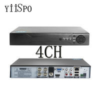 4K 4ch/8ch CCTV AHD DVR H.265 HDMI Output 4/8ch optional Surveillance System DVR With button iPhone Android Phone Remote View