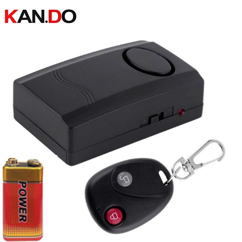 W/ Remote Control Function W/ 9v Battery Vibration Alarm 110db Siren Vehicle Anti-theft Vibrated Alarm Vibrated Detector Alarm