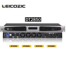 Leicozic DT2850 d sınıfı amplifikatör 850 w x2 1U Amper için 1400 w x2 @ 4 ohm dijital amplifikatör sahne gece kulübü ses profesyonel ses