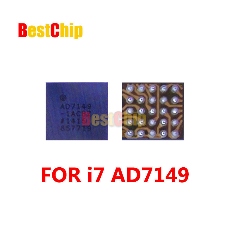 BestChip 50pcs lot AD7149 U10 For iPhone 7 7 Plus Home button return fingerprint chip ic