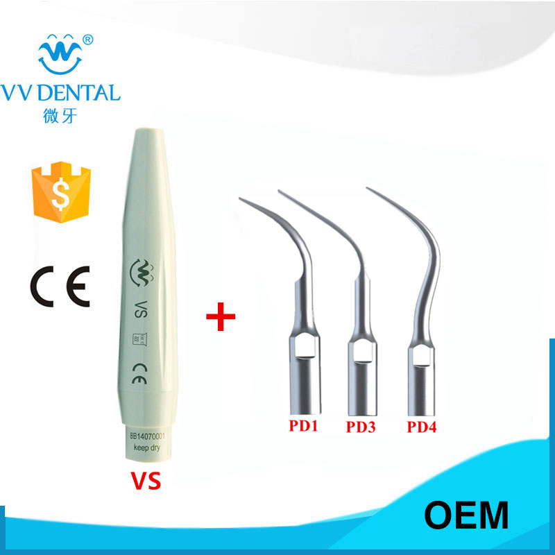 1 set Dental Scaling PERIO Tips and scaler handpiece for Satelec DTE NSK Ultrasonic Scaler Handpiece Teeth Whitening new one set ultrasonic dental scaler handpiece and scaling tips fit woodpecker ems teeth whitening dental equipment