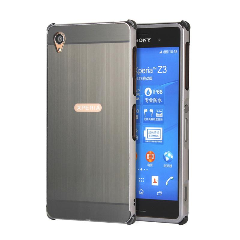Metal Aluminum For Sony Xperia Z3/XZ/X Performance/X Compact/XZS Case Detachable + Brushed PC 2 In 1 Cover Ultra Thin Frame