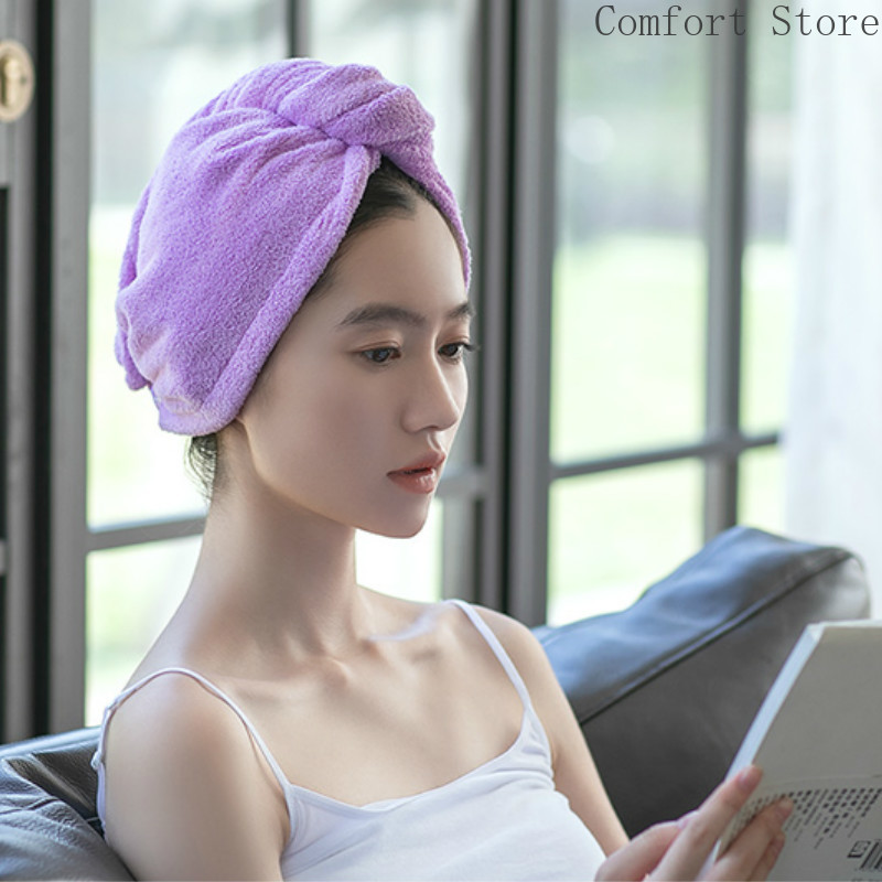 Dry Hair Caps Women's Water Absorbing Pack Headscarves Long and Short Hair Bath Caps Quick Lovely Hair Drying Towels B5T74