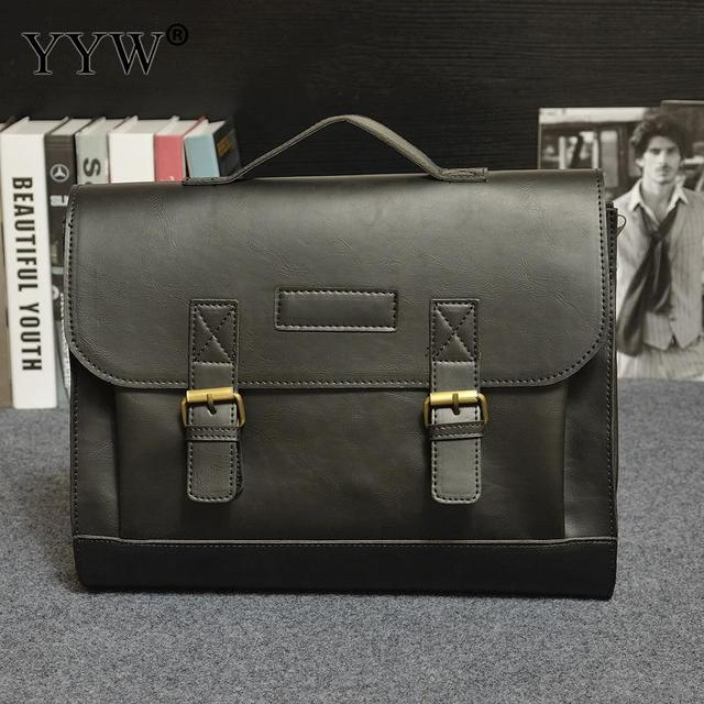 043f428564c Men's Executive Briefcase Business Male Bag Brown Portfolio Tote Bags for  Men Black PU Leather Handbag A Case for Documents-in Briefcases from  Luggage ...