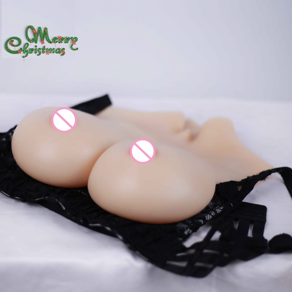 Solido E coppa Forme Del Seno Artificiale Del Silicone Realistico Boobs Enhancer Crossdresser petto Trandsgender di san valentino regalo di giorno