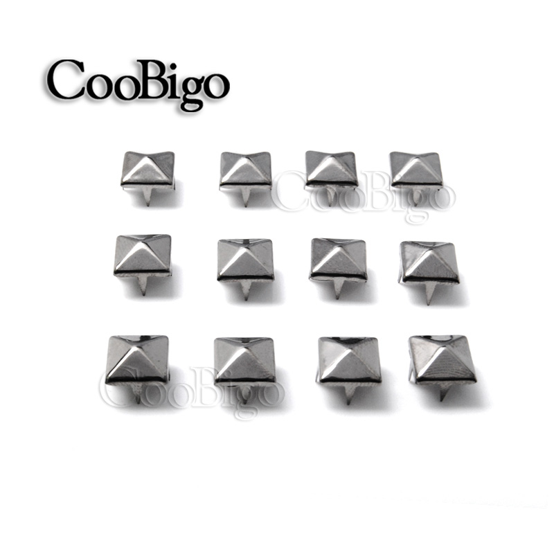 50pcs 9mm Silver Metal Studs Spike for Bag Decor Leather Craft Clothes Rivet