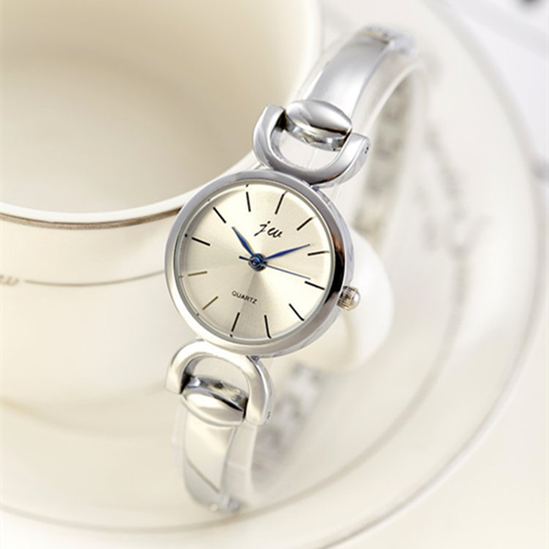 Famous Brand JW Bracelet Watch Clock Women Luxury Silver Stainless steel Casual Analog Wristwatches Ladies Dress Quartz Watch fashionable analog quartz bracelet watch for women purple silver 1 x lr626