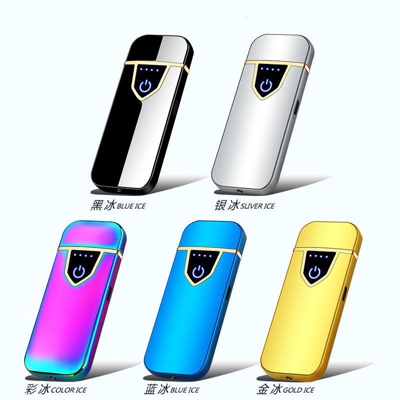Usb-Charging-Lighter Touch-Sensing Electric-Heating-Wire Windproof Ultra-Thin Protect