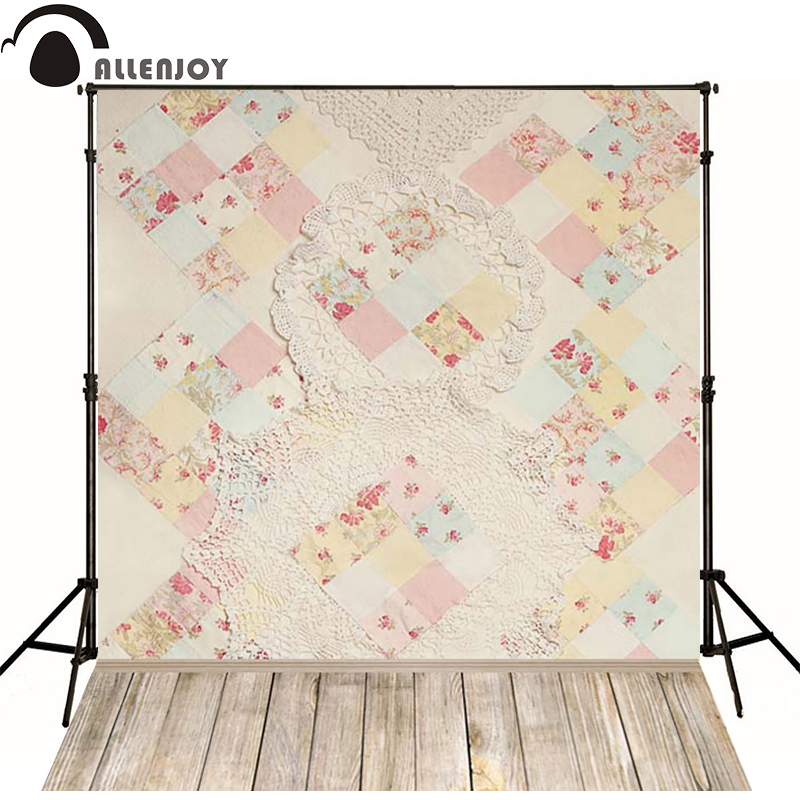 Allenjoy Photographic background Flower red wooden box newborn vinyl backdrops  photo for studio custom new design недорого