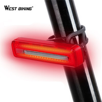 WEST BIKING Bicycle Taillight USB Rechargeable Waterproof Riding MTB Rear Lamps Super Bright Safety Night Warnning