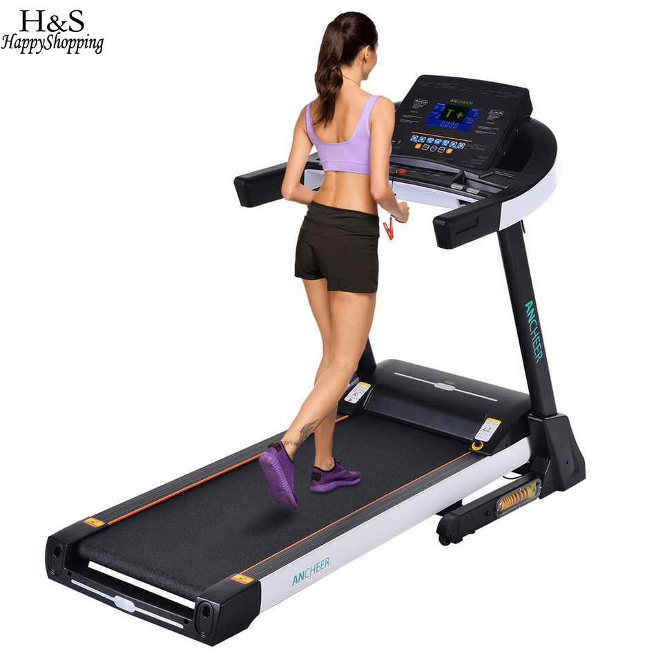 ANCHEER New 3.0HP DC Electric Treadmill Exercise Equipment Machine Running Training Fitness EU plug indoor sports items Hot sale ancheer new folding electric treadmill exercise equipment walking running machine gym home fitness treadmill