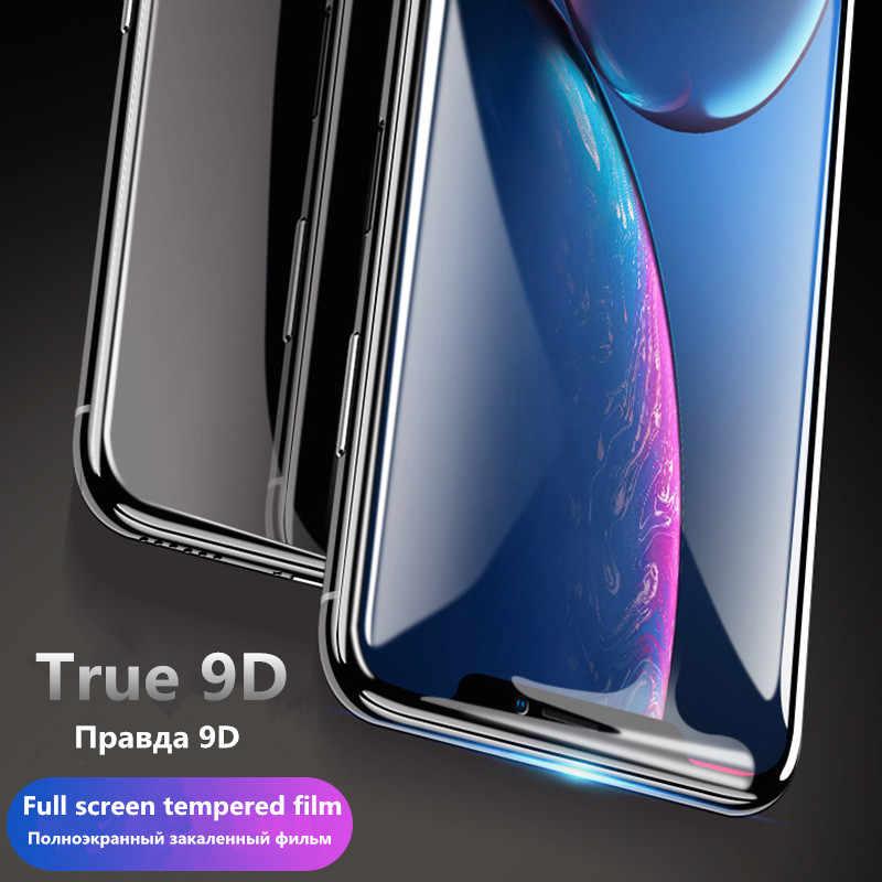 2 in 1 ฝาครอบ 9DกระจกนิรภัยสำหรับXiaomiFor 8 9 9T 10 Pro Redmi 8A 10X K30 หมายเหตุ 7 8 9 Proป้องกันหน้าจอป้องกันฟิล์ม