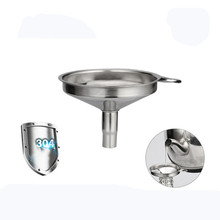 FEIGO Quality 304 Stainless Steel Funnel Kitchen Oil Honey Beer Jar Durable Wide Mouth Funnels Accessories F856