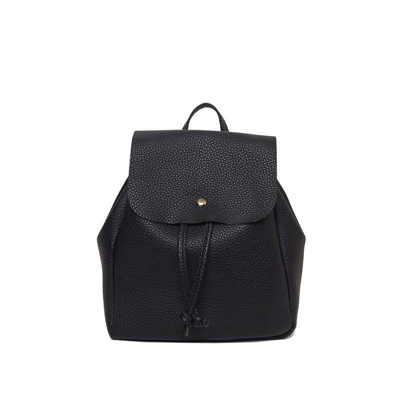 Simple Fashion Women Backpack Solid Color Leather Drawstring Girls School Shoulder Bag Ladies Casual Bags High