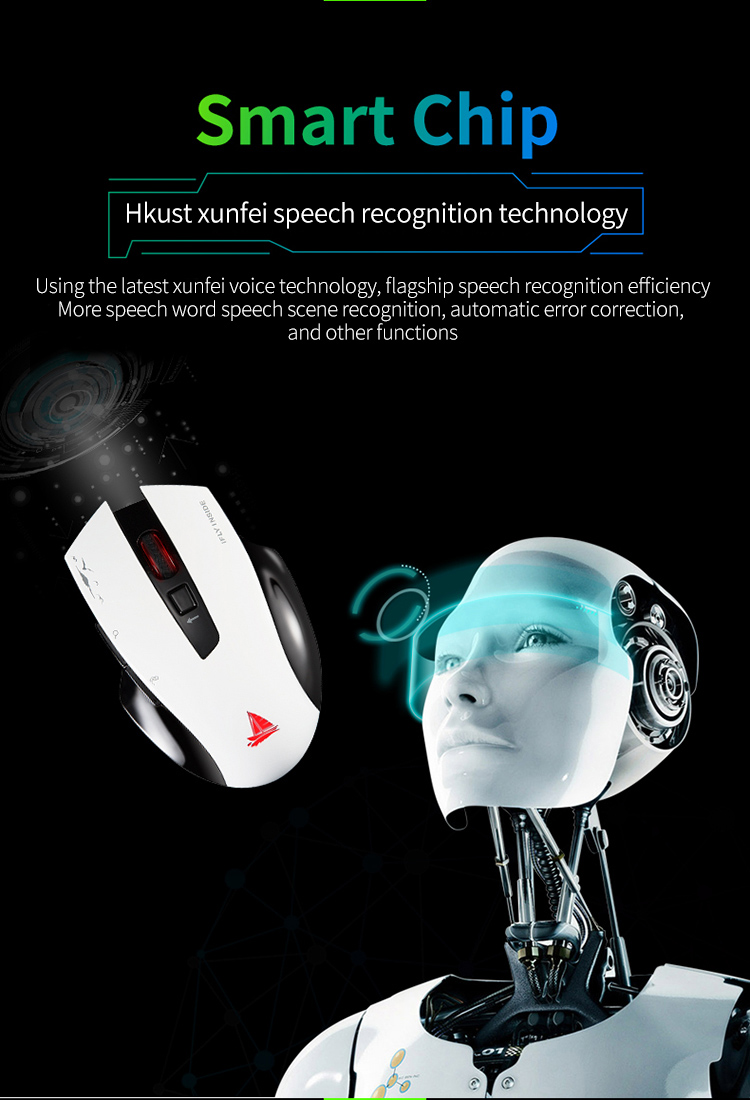 Cerreat Smart Voice Translation Mouse Portable Instant Intelligent speech translateTypingSearch 2.4G Wireless Mouse with Enter Key 24 Target Languages (2)