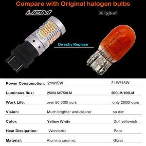 Image 5 - IJDM 없음 하이퍼 플래시 Canbus 화이트/앰버 고전력 3157 스위치 백 12V 3155 T25 LED 전구 주간 러닝/신호등