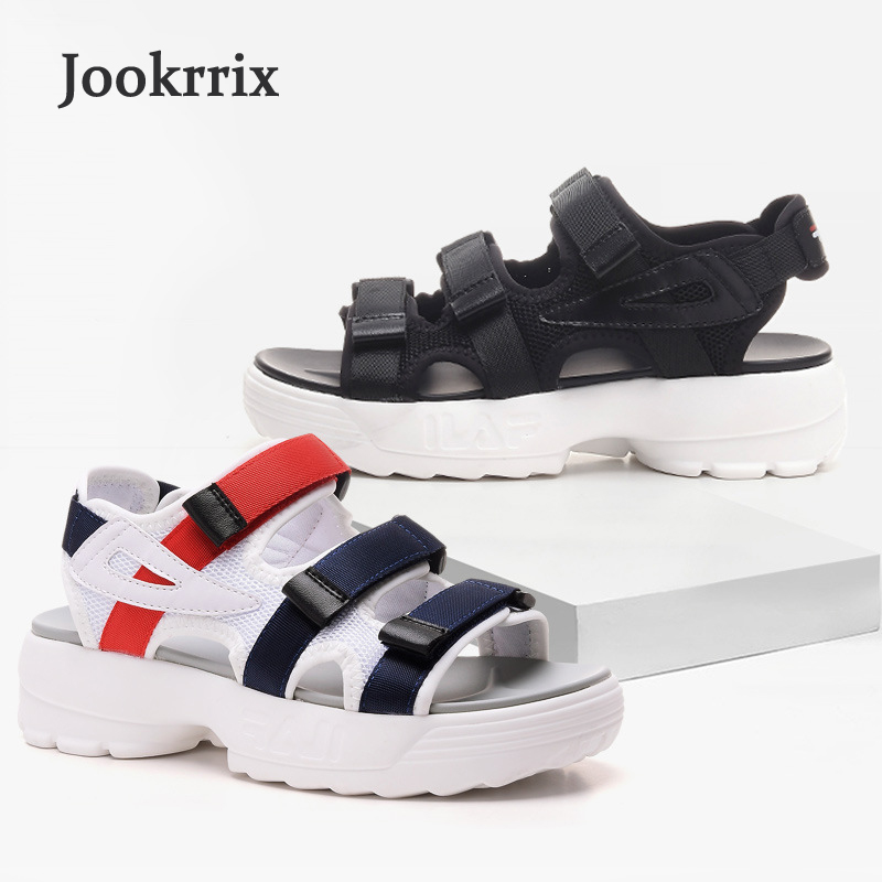 Jookrrix 2018 New Summer Girl Fashion Brand Platform Shoes Women Beach Sandals Mesh Lady Leisure White Shoe Breathable Peep Toe women creepers shoes 2015 summer breathable white gauze hollow platform shoes women fashion sandals x525 50