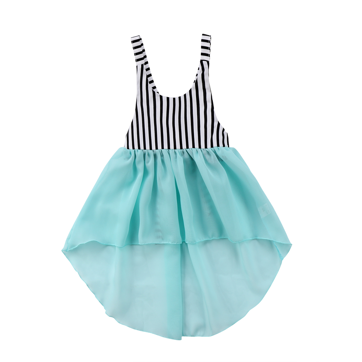 2018 Infant Baby Girls Clothes Sleeveless Striped Tulle Dresses ...