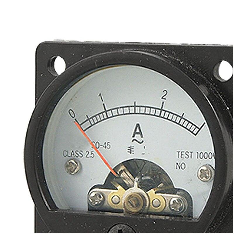 Panneau rond AC 0 3/A analogique m/ètre de mesure de courant amp/èrem/ètre Gauge Noir