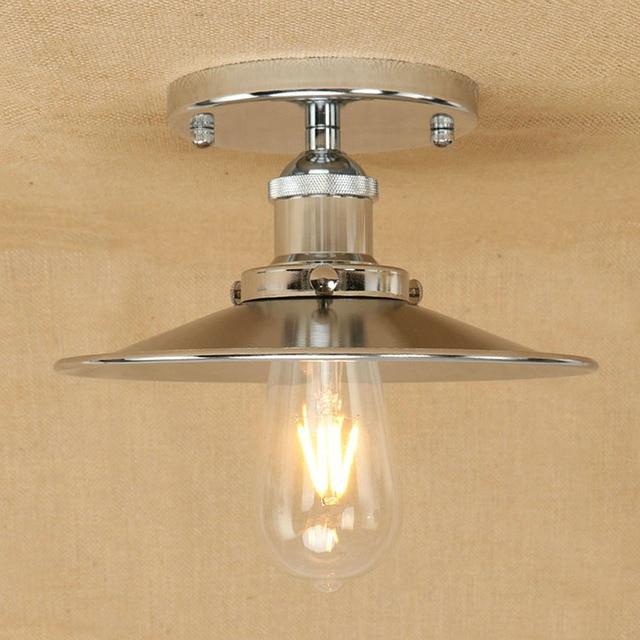 Vintage Metalen Plafond Lampen chrome lampenkap Klassieke ...