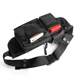Image 4 - MOYYI su geçirmez Crossbody çanta erkekler rahat omuz çantaları spor kemer göğüs çantası fermuar çok katmanlı sırt çantaları bel paketi