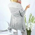Caliente Outwear Cardigan Tops Mujeres 2017 Nueva Moda de Invierno Mujer de Manga Larga Suéter de Punto Abrigos Casual Slim Fit Suéter de Gran tamaño