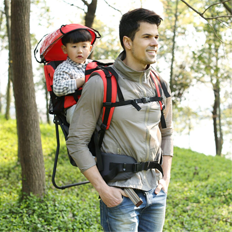 Pieghevole di Corsa Del Bambino carrier Impermeabile Del Bambino Toddlr Da Trekking Zaino Alpinismo Esterno Ombra Carrier-Originale Sedia Struttura