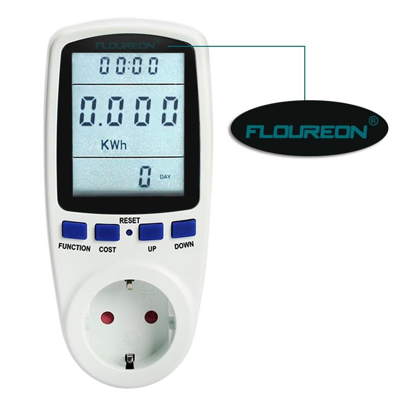 Floureon EU TS 836A Digital Power Meter Voltage Wattmeter Power ...