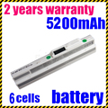 Jigu 6 células 4400 mah bateria do portátil para msi u100 u90 u200 branco u210 u230 bty-s11 bty-s12 para lg x110 para medion akoya mini e1210