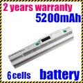 Jigu 6 celdas 4400 mah batería del ordenador portátil para msi u100 u200 u90 blanco u210 u230 bty-s11 bty-s12 para lg x110 para medion akoya mini e1210