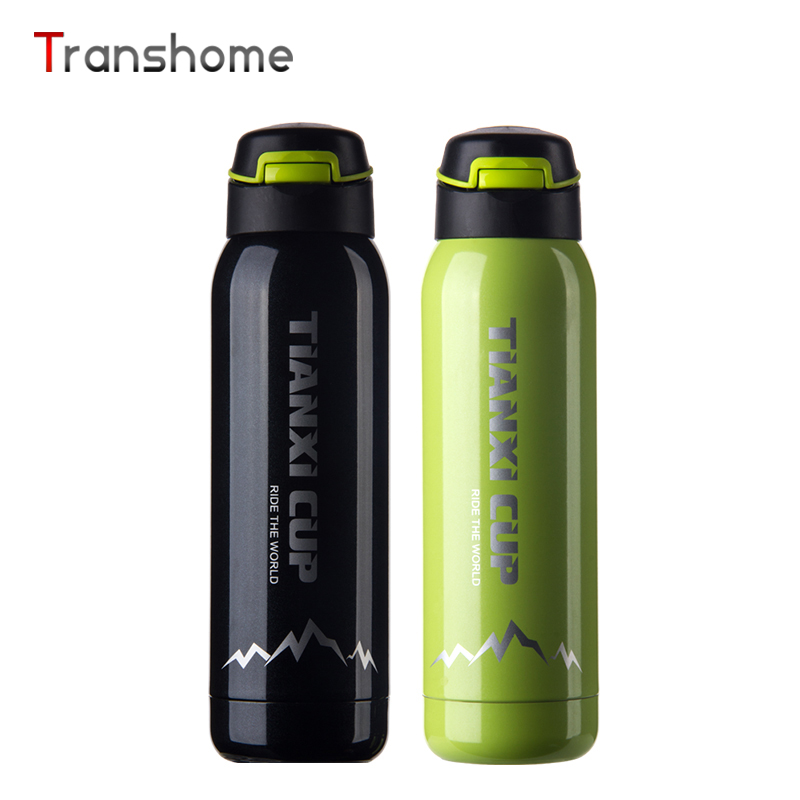 Transhome Thermos Mug Outdoor Stainless Steel Coffee Mugs Cup Creative Portable Sports Bottle With Lid Gift