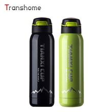Transhome Thermosbecher Außen Edelstahl Kaffeetassen Tasse Kreative Tragbare Sportflasche Mit Deckel Geschenk Reise Wasserflaschen