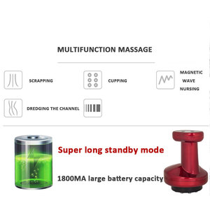 Image 4 - ไฟฟ้า Cupping กระตุ้น Acupoint Body Slimming Massager Guasha Scraping นวดความร้อนลบความดันการฝังเข็ม Therapy