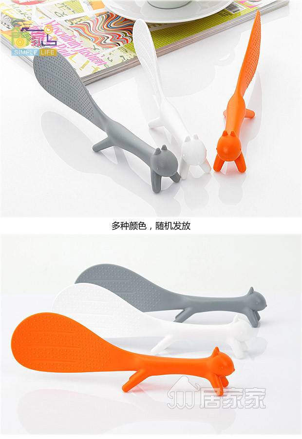 FedEx пластиковая ручка белка ложка Вертикальная антипригарная ложка для риса 600 шт